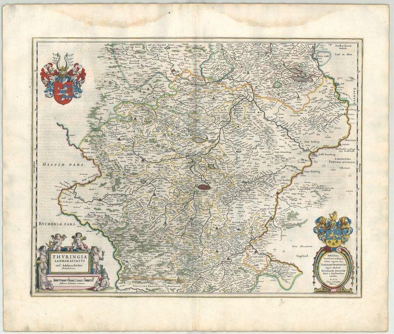 3197   Blaeu, Joan und Cornelius: Thuringia Landgraviatus  1659