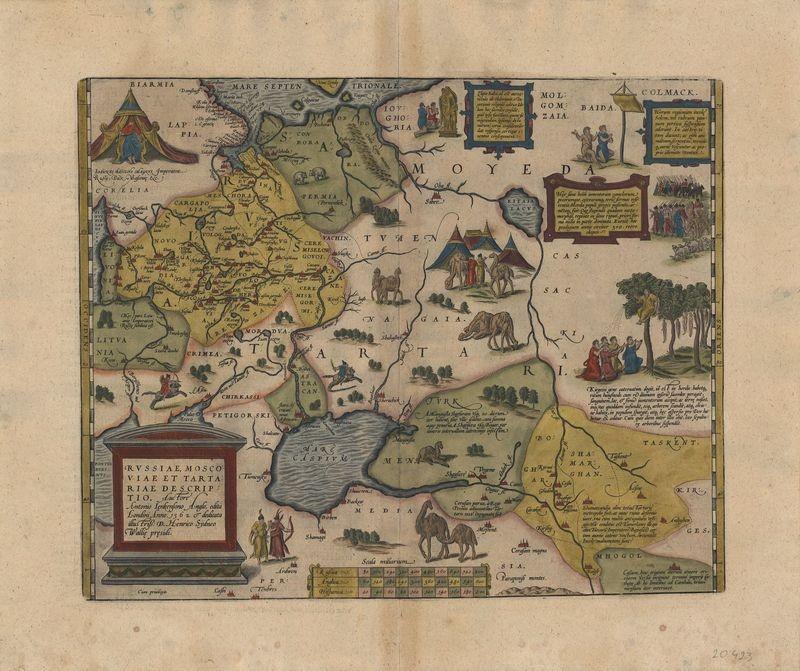 3265   Ortelius, Abraham : Russiae, Moscoviae et Tartariae Descriptio  1609