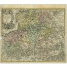 2303  Homann, Johann Baptist: Commitatus Hannoniae in suas.... 1712
