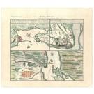 2309  Homann Erben: Vorstellung einiger Gegenden und Plaetze in Nord-America. 1756