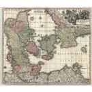 2317  Homann, Johann Baptist Regni Daniae in quo sunt Ducatus Holsatia et .. 1730