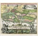 2326  Homann, Johann Baptist : Prospect und Grundris der Keiserl.Freyen Reichs und Ansee Stadt Hamburg samt ihrer Gegend. 1720