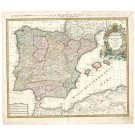2369   Homann, Johann Baptist: Regnorum Hispaniae et Portug. 1720
