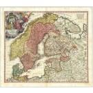 2394   Homann Erben: Scandinavia complectens Sueciae, Daniae & Norvegia 1707