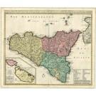 2442   Ottens: Insulae et Regni  Siciliae Novissima Tabula 1730