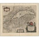2450   Janssonius, Johannes: Lacus Lemanni Locorumque Circumiacentium Accuratissima Desriptio 1656