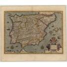 2451   Hondius, Jodocus: Hispania Nova Descriptio, de Integro Multis in Locis, Secundum Hydrographicas, Desc. Emendata. 1613