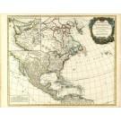 2489   Vaugondy, Robert de: Amerique Septentrionale dressee sur les Relations les plus modernes des Voyageurs et Navigateurs ou se remarquent les Etats Unis 1783