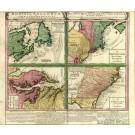 2491   Homann Erben: Dominia Anglorum in America Septentrionali 1740