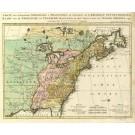 2492   Ottens, Reinier und Josua: Carte des Possessions Angloises & Francoises du Continent de l´Amerique Septentrionale 1755