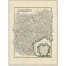 2498   Bonne / Lattre: Carte des Gouvernements de Languedoc, de Foix et de Roussillon ... 1771