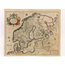 2504   Blaeu, Willem: Svecia, Dania, et Norvegia regnae Europe septenztionale 1635