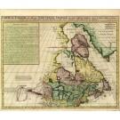 2519   Châtelain, Henri Abraham: Carte du Canada ou de la Nouvelle France, & ..  1718