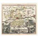 2547   Homann, Johann Baptist : Abbildung der Keysrl:Freyen Reichs- Wahl- und Handelsstatt Franckfurt am Mayn mit ihrem Gebiet und Gräntzen.  1715
