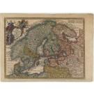 2598   Seutter, Matthias: Synopsis Plagae Septentrionalis Sueciae Daniae et Norwegiae Regn. 1744