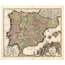 2603   Schenk, Petrus: Novissima et Accuratissima Regnorum Hispaniae et Portugalliae 1734