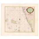 2607   Keulen, Johannes van: Pas Caart van een Gedeette van de Kusten van Cuncancanara en Malibar met het Noortlykste van de Maldivische Eylanden in de Oostindischezee 1755