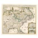 2608   Châtelain, Henri Abraham: Carte de la Nouvelle France, ou se voi le cours 1719