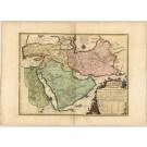 2611   Fer, Nicolas de / Danet: La Perse La Georgie, La Natolie Les Arabies 1724