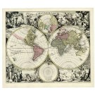 2614   Valk, Gerard und Leonard: Orbis Terrarum Nova et Accurata Tabula 1700