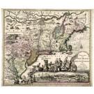 2621   Seutter, Matthias: Recens edita totius Novi Belgii, in America Septentrionali siti, delineatio. 1735
