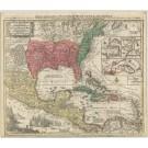 2653   Lotter, Tobias Conrad : Mappa Geographica Regionem Mexicanam et Floridam  1780