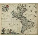 2676   Wit, Frederick de: Novissima et Accuratissima Totius Americae Descriptio. 1670
