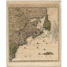 2681   Covens & Mortier / Popple: Nouvelle Carte Particuliere de l´Amerique ou sont exactement marquees la Nouvelle Bretagne, le Canada ou Nouvelle France, la Nouvelle Ecosse, la Nouvelle Angleterre, la Nouvelle York, la Pensilvanie, Maery-Land, la Caroli