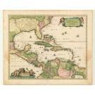 2712   Visscher, Nicolaus: Insulae  Americanae in Oceano Septentrionali et Regiones Adiacentes 1664