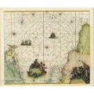 2713   Renard, Louis: Terra Nova ac Maris Tractus circa Novam Franciam, Angliam, Belgium, Venezuelam, Novam Andalusiam, Guianam et Brasiliam 1715