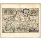2734   Blaeu, Joan / Mejer, Johannes: Dithmarsiae Pars Septentrionalis. 1663