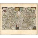2736   Blaeu, Joan / Mejer, Johannes: Dithmarsiae Tabula  1663