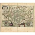 2748   Blaeu, Joan / Mejer, Johannes: Praefectura Gottorpiensis pars Australis. 1662