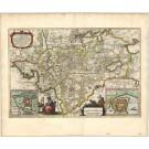 2749   Blaeu, Joan / Mejer, Johannes: Praefectura Gottorpiensis pars Australis. 1662