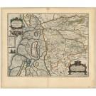 2753   Blaeu, Joan / Mejer, Johannes: Pars Occidentalis Praefecturae Hadersleben cum adjacentibus Ripen et Lohmchloster Praefecturis. 1662