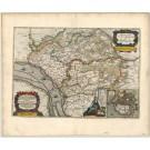 2776   Blaeu, Joan / Mejer, Johannes: Praefectura Steinborgh cum Kremper, et Wilstermarsch. 1663