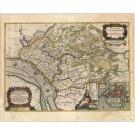 2777   Blaeu, Joan / Mejer, Johannes: Praefectura Steinborgh cum Kremper, et Wilstermarsch. 1662