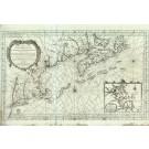 2800 Bellin, Jaques-Nicolas: Carte Réduite du Costes Orientales de L´Amerique Septentrionale