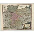 2870   Seutter, Matthias: Saxoniae Inferioris Circulus juxta Principatus et Status suos  1741