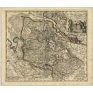 2874   Reinier und Josua Ottens / Wit, Frederick de: Ducatus Bremae et Ferdae Maximaeque partis Fluminis Visurgis Descriptio  1740