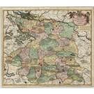 2879   Danckerts, Justus: Ducatus Lunenburgensis In Omnes Ejusdem Subjacentes Praefecturas Nova Descritio  1696