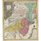 2906   Lotter, Tobias Conrad: Pennsylvania Nova Jersey et Nova York cum Regionibus ad Fluvium Delaware in America sitis  1740