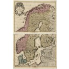 2925   Elwe, Jan Barend: Carte des Courones du Nord  1792