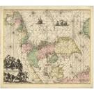2930   Ottens, Reinier und Josua Daniae, Frisiae, Groningae et Orientalis Frisiae Littora.  1750