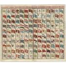 2938   Homann, Johann Baptist : Flaggen aller seefahrenden Potenzen und Nationen der gantzen Weldt. 1730