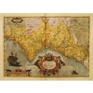 2950   Ortelius, Abraham: Valentiae Regni, olim Contestanorum si Ptolemaeo Edetanorum si Plinio Credimus Typus  1584
