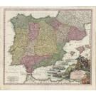 2959 Homann, Johann Baptist: Regnorum Hispaniae et Portugalliae Tabula Generalis, ca. 1720