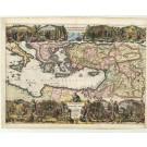 2987   Lindenberg, Jacob (Hrsg) : Description Geographique des Voyages de S. Püauli et des autres Apostres  1702