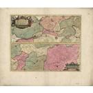 3040   Schenk, Petrus und Valk, Gerard: Albis Fluvius. Germaniae celebris a Fontibus ad Ostia.  1750