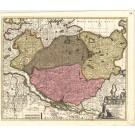 3045   Schenk, Petrus : Holsatiae Tabula Generalis in qua sunt Ducatus Holsatiae, Dithmarsiae, Stormariae et Wagriae.  1707